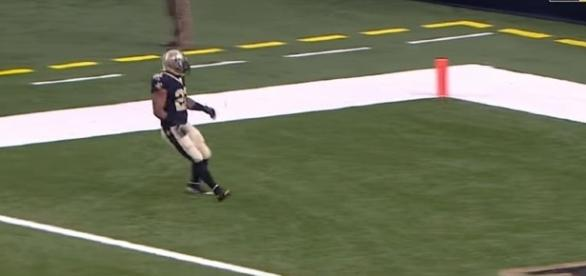 Mark Ingram against the Detroit Lions. [Image Credit: NFL/YouTube]