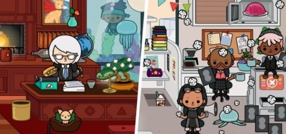 'Toca Life: Office' includes many funny and very whimsical elements. / Photos via Brett Weliever and Toca Boca, used with permission.
