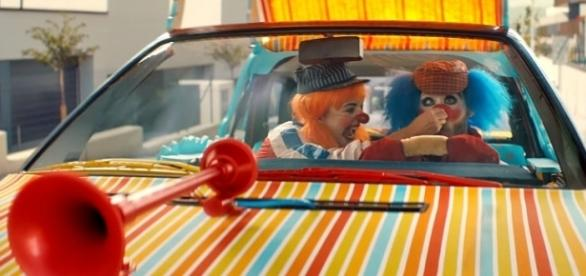 Audi's new viral ad uses clown drivers to demonstrate the safety of the A8 [Image: YouTube/Audi UK]