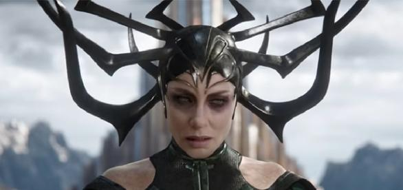 "Cate Blanchett plays the first ever female Marvel villain on the big screen, Hela in ""Thor: Ragnarok."" (Image Credit: Marvel Studios/YouTube)"