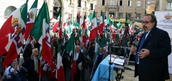 Il Presidente, Avv. Alessandro Sacchi durante una manifestazione UMI a Roma.