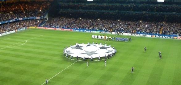 Champions League banner at Stamford Bridge (Image Credit: Photo Credit: UEFA/Wikimedia Commons)