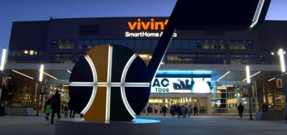 Oklahoma City Thunder vs Utah Jazz on Saturday night at Vivint Smart Home Arena [Image Credit: NBA Conference YouTube]