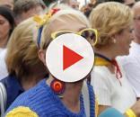 Karmele Marchante en una manifestación