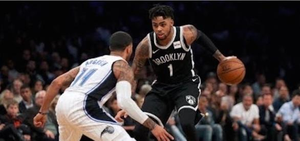 D'Angelo Russell led the Nets to their second win of the season on Sunday. [Image via NBA/YouTube]