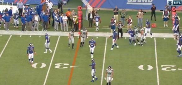 The Giants' gave another lackluster performance on offense. [Image Credit: NFL/YouTube]