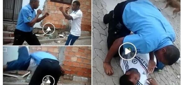 Vigilante aplica golpe mortal em colega durante briga