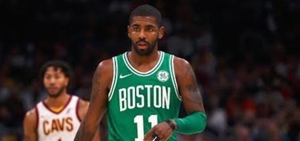 Boston's Kyrie Irving scored 23 points in Thursday night's win against the Milwaukee Bucks. [Image Credit: NBA/YouTube screencap]