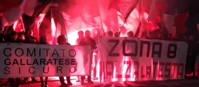 Milano, oltre 300 persone al corteo per la sicurezza della zona 8