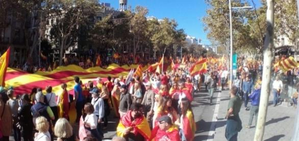 300,000 rally in Barcelona to reject the independence declaration / A.S. Own work
