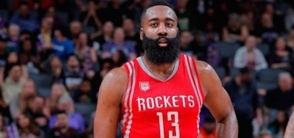 James Harden achieved a triple-double Friday night in Houston's win over Charlotte. [Image via NBA/YouTube]