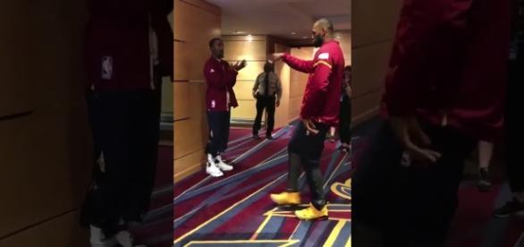 LeBron James talks about JR Smith's shooting struggles. (Image via AOSports!/YouTube Screenshot)