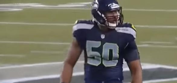 Seattle Seahawks linebacker K.J. Wright in action. -- YouTube screen capture / NFL