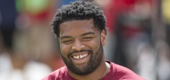Trent Williams [Image by Keith Allison|Wikimedia Commons| Cropped | CC BY-SA 2.0 ]
