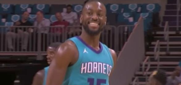 Kemba Walker and the Hornets host Aaron Gordon and the Magic on Sunday night. [Image via NBA/YouTube]