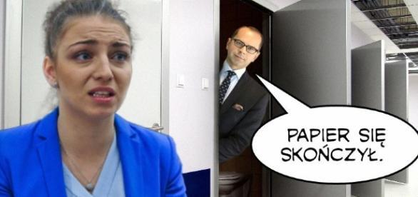 """Kingę Gajewską okrzyknięto """"królową papieru toaletowego"""" (fot. wykop.pl)"""
