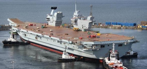 HMS Queen Elizabeth in dock could be rushed into service should hostilities break out - Jeff Head - Flickr