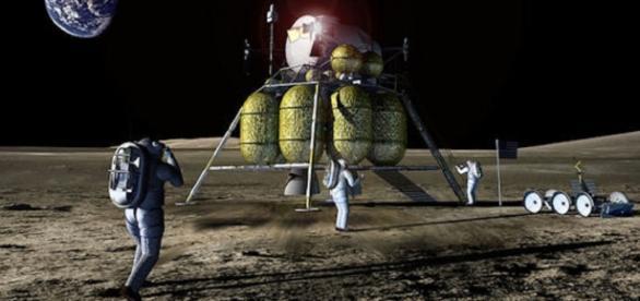 Future astronauts on the moon (Image courtesy of NASA)