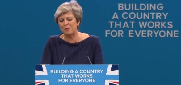 Theresa May's Tory conference speech - Image - Guardian Wires | YouTube