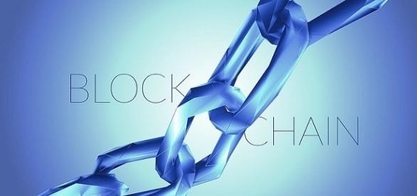 Blockchain technology Illustration. [Image Credit: David Stankiewicz/Wikimedia]
