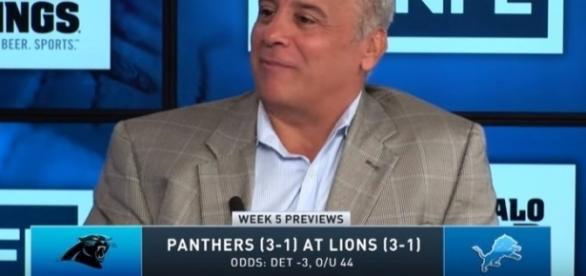 The Detroit Lions were favored by three points over the Carolina Panthers in Week 5. -- YouTube screen capture / CBS Sports