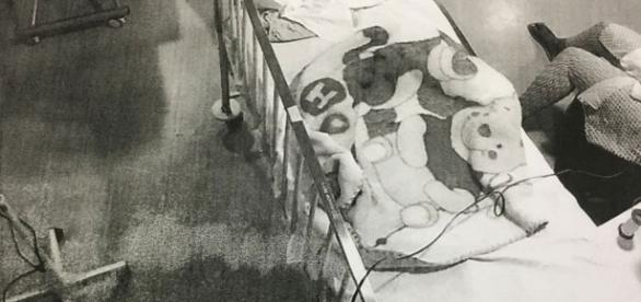 Imagens das câmeras de segurança do Hospital Universitário de Brasília