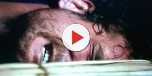Zac chora na novela (Foto: Reprodução/Record TV)