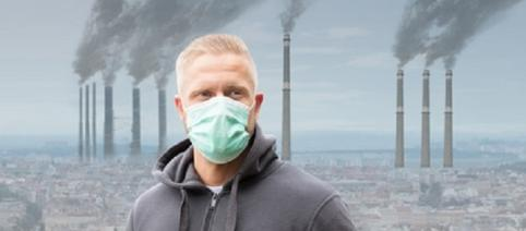 Lizenz Fotolia: © Andrey Popov / Man Wearing Mouth Mask Against Air Pollution