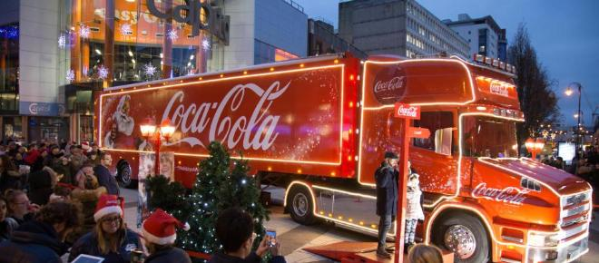 Festive Holidays and the Coca-Cola Christmas truck