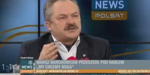 Poseł Kukiz'15 Marek Jakubiak wypowiada się na temat Marszu Niepodległości (screen Facebook).