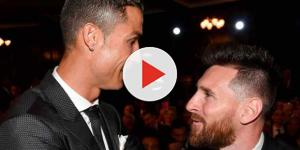 Cristiano Ronaldo com Messi na festa da Fifa: ''The Best''
