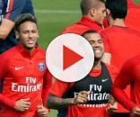 Alguns brasileiros no treinamento no Paris Saint-Germain