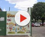 Frente da escola Classe 8 Cruzeiro (Foto: Reprodução/TV Globo)