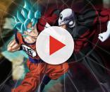 Goku lucando contra JIren el Gris