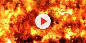 Fuoco e incendio a Copertino dopo l'esplosione di una bombola.