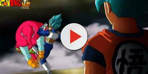 Vegeta en Super saiyan blue vs Ribrianne