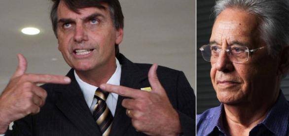 Jair Bolsonaro e Fernando Henrique Cardoso - Fotos: Gustavo Miranda/Agência O Globo/Yasuyoshi Chiba/AFP