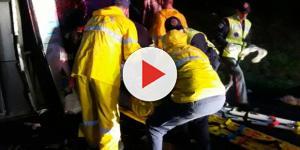 Resgate aos feridos mobilizou bombeiros e SAMU de municípios vizinhos. (Foto: Rádio Educadora/Divulgação)