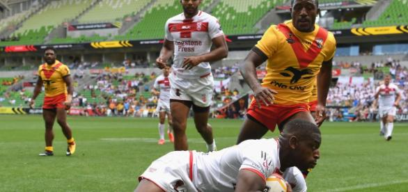 Just over 10,500 were there to witness England progress to the semi-finals with a 36-6 victory over PNG. Image Source: Daily Mirror