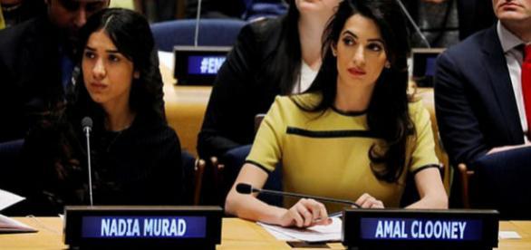 Nadia Murad și Amal Clooney luptă pentru ca militanții ISIS să fie judecați de un tribunal internațional - Foto: Daily Mail (© REUTERS)