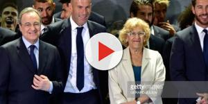 Real Madrid's President Florentino Perez, Real Madrid's French ... - gettyimages.com