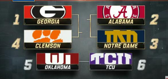 College football matchups: (Image Credit - ESPN/YouTube Screencap)
