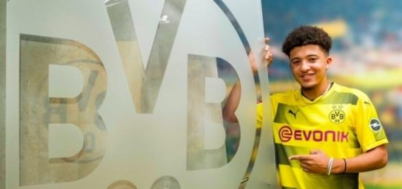 Jadon Sancho is the latest young star to swap the Premier League for Germany - Image Source: Twitter
