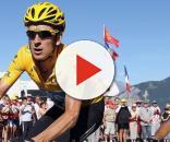 Bradley Wiggins in maglia gialla al Tour de France