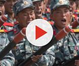 I soldati dell'esercito della Corea del Nord