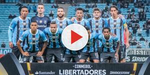 Grêmio em partida da Libertadores (Foto: Manoel Petry)