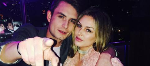 James Kennedy poses with Lala Kent. [Image via Instagram]