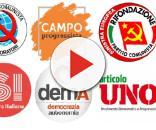 Alcuni dei simboli dei movimenti della sinistra attualmente attivi in Italia