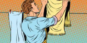Alguns maridos participam ativamente das tarefas domésticas