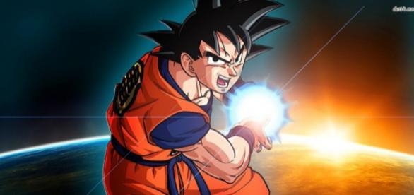 Goku performs his strongest technique